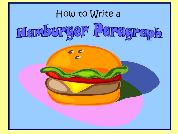 essay writing hamburger graphic organizer