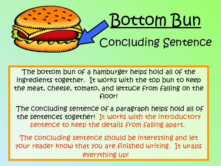 Hamburger paragraph for Sentence of floor