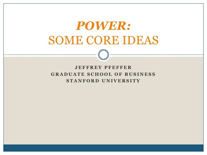 Power and Career Success with Jeffrey Pfeffer