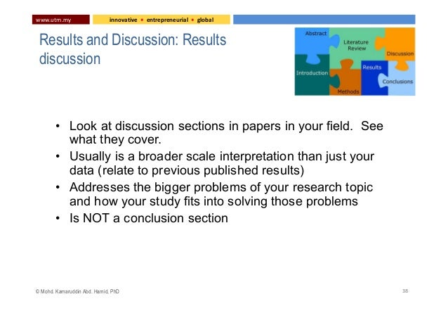discussion of results thesis About the thesis chapter ie results and discussion.