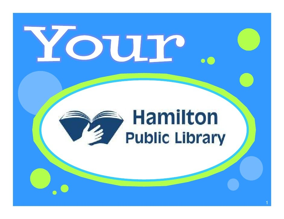 Hamilton Public Library - Grade 4 Library Introduction