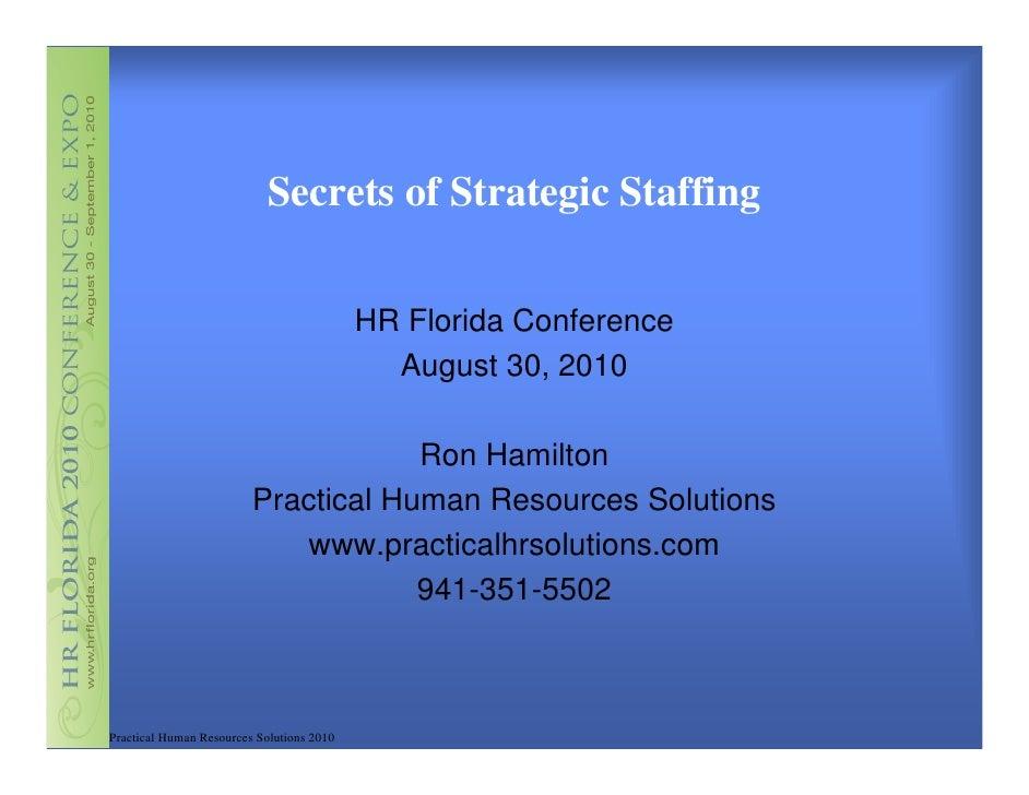 Hamilton - Secrets of Strategic Staffing