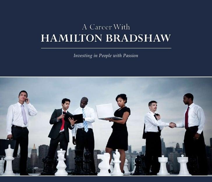 Hamilton Bradshaw Careers