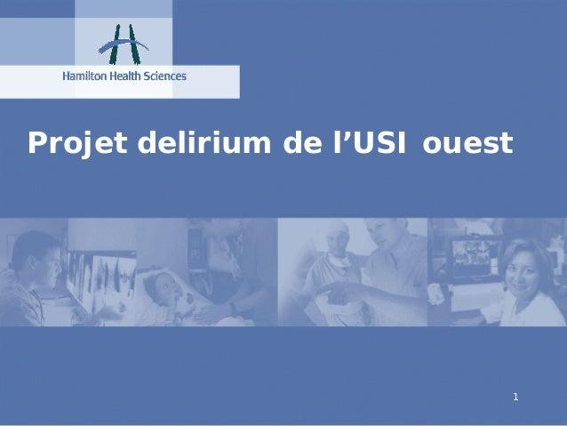 Projet delirium de l'USI ouest                                 1