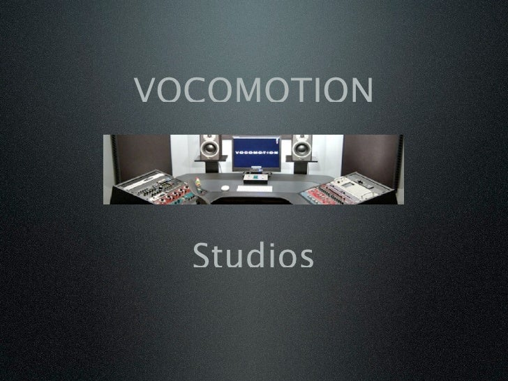 VOCOMOTION      Studios