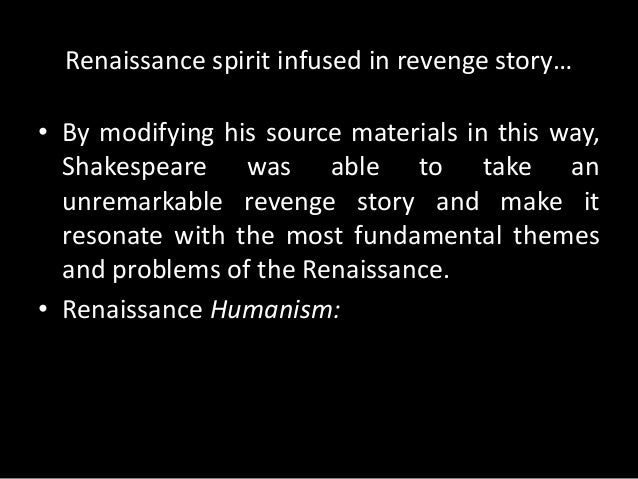 Paragraph points on the theme revenge in play Hamlet?