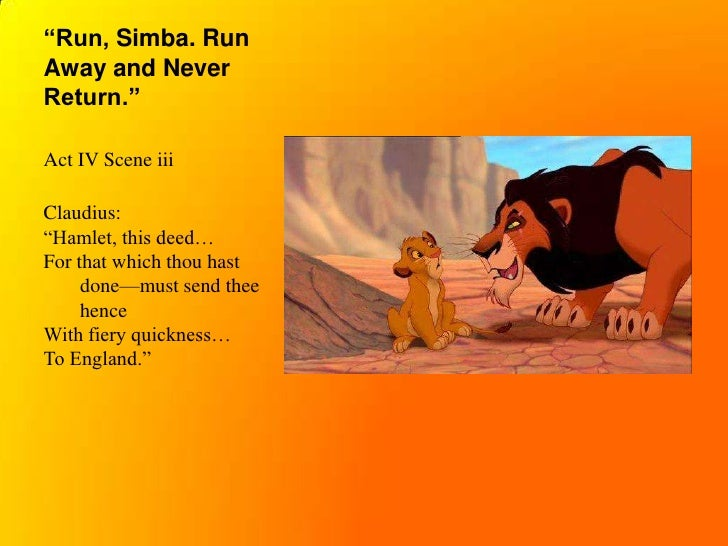 a comparison between hamlet and lion king