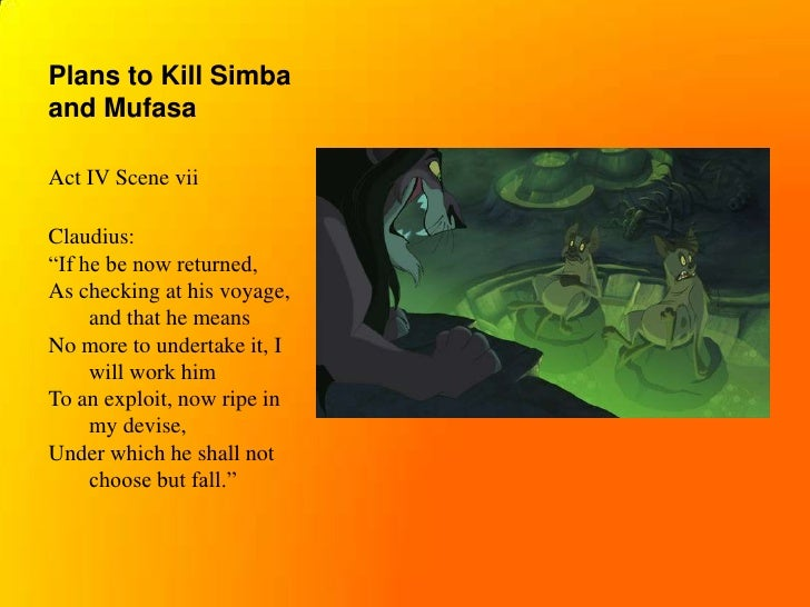 hamlet and lion king essay Comparative essay the tragedy of hamlet, by william shakespeare, greatly compares to the movie the lion king by sharing the same central plot and main characters.
