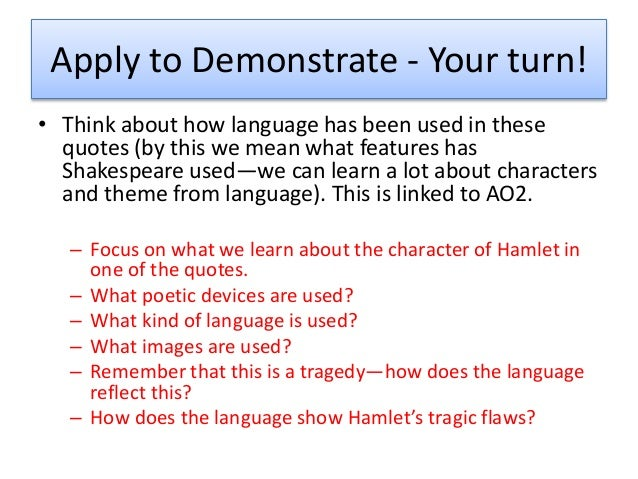 an analysis of hamlets solilquy at Hamlets soliloquy in act 4 scene 4 english literature essay print reference this hamlets also speaks this line during his soliloquy to all that fortune.