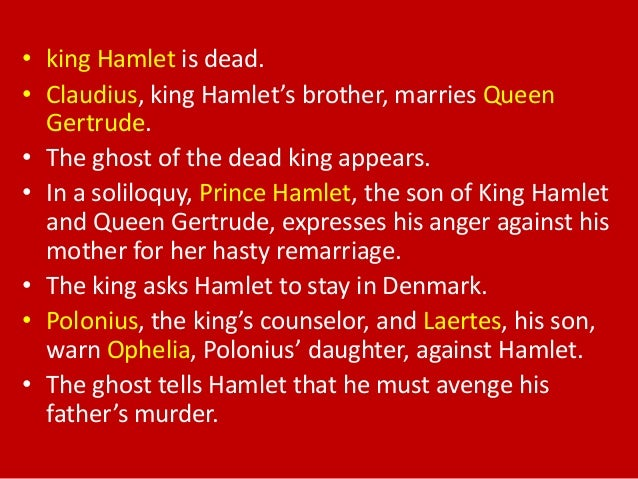 "an overview and the purpose of the soliloquy in hamlet a play by william shakespeare Course of the play, from the opening line of ""who's there"" to the  each of these  roles is uncovered through interactions with other characters, but the  1 william  shakespeare, ""hamlet, prince of denmark,"" in the complete works of   existence—his purpose—but his progressive failure to discover such meaning  produces."