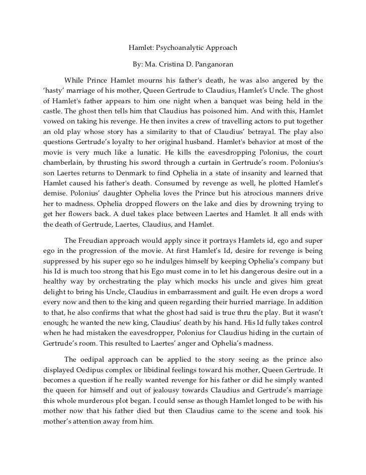 Psychoanalytic criticism essay