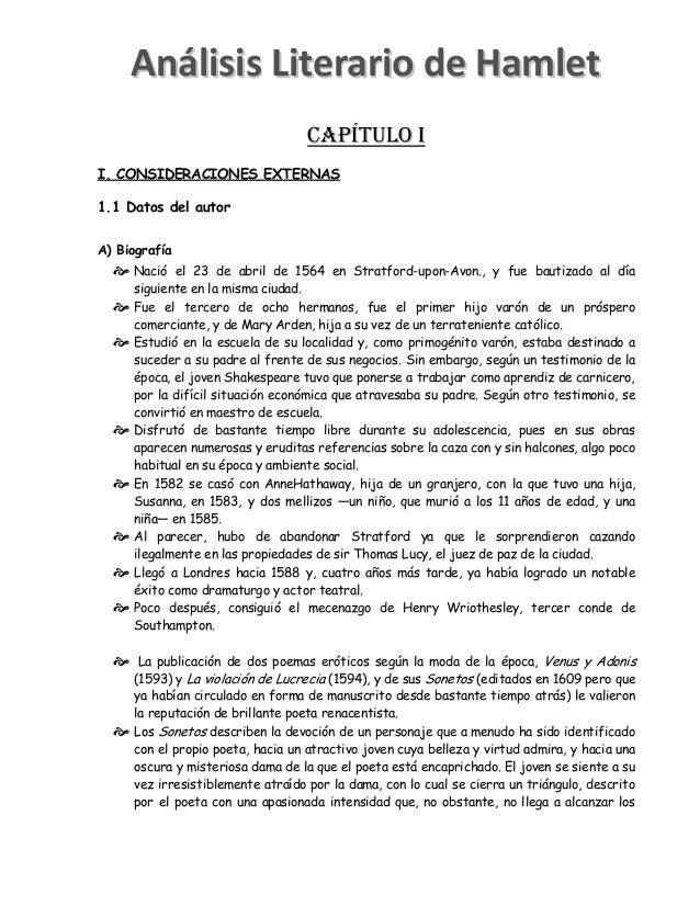 CAPÍTULO I I. CONSIDERACIONES EXTERNAS 1.1 Datos del autor A) Biografía  Nació el 23 de abril de 1564 en Stratford-upon-A...