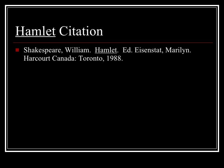 Citaten Shakespeare Hamlet : Hamlet s worldview