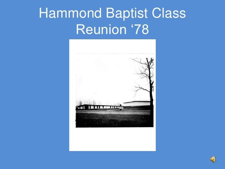 Hammond Baptist Class Reunion '78<br />
