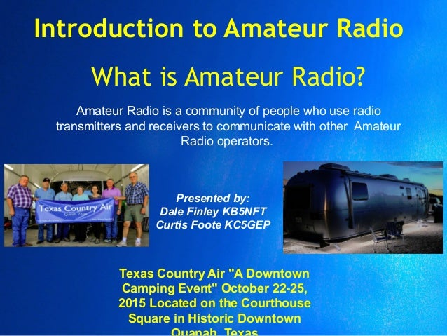 introduction to amateur radio video smudge