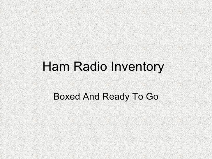 Ham Radio Inventory