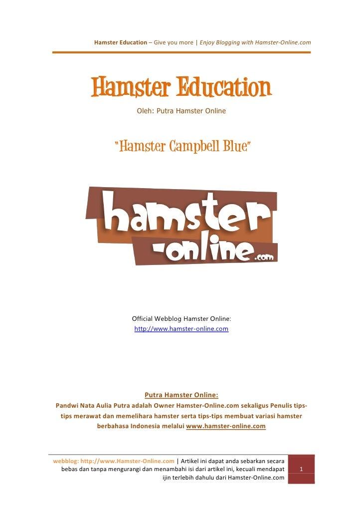 Hamster Education – Give you more | Enjoy Blogging with Hamster-Online.com             Hamster Education                  ...