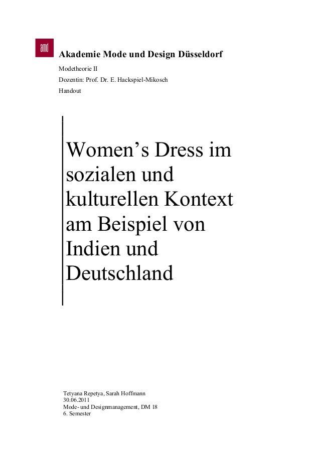 Womens Dress im sozialen und kulturellen Kontext