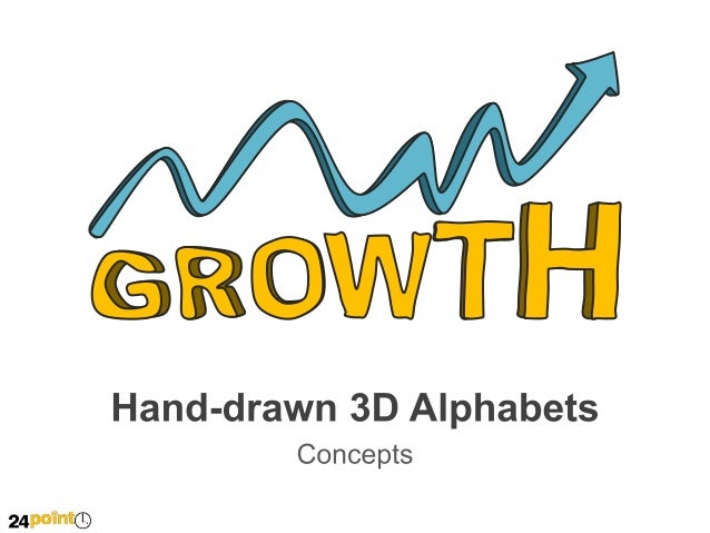 Hand Drawn 3 D Alphabets