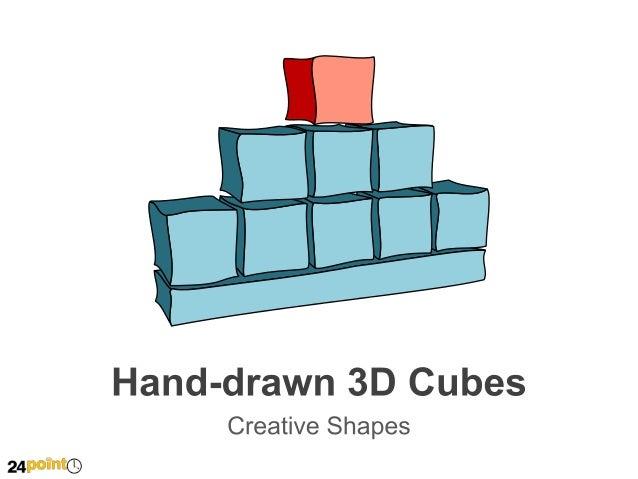 Hand-drawn 3D Cubes   Insert text  Insert text  Insert text   Insert text  Insert text  Insert text   Insert text ...