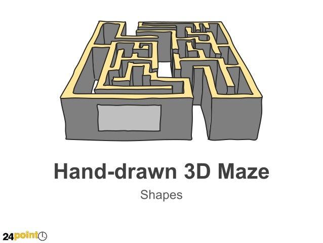 3d Maze Drawing Hand-drawn 3d Maze Text Text