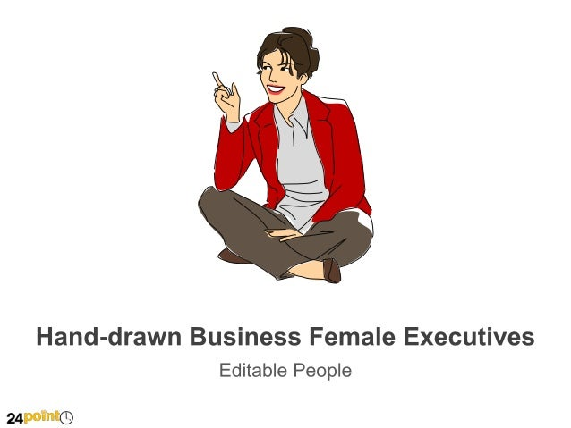 Hand-drawn Business Female Executives