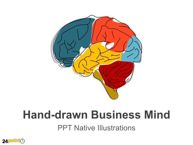 Custom-drawn Business Mind - PowerPoint Illustration