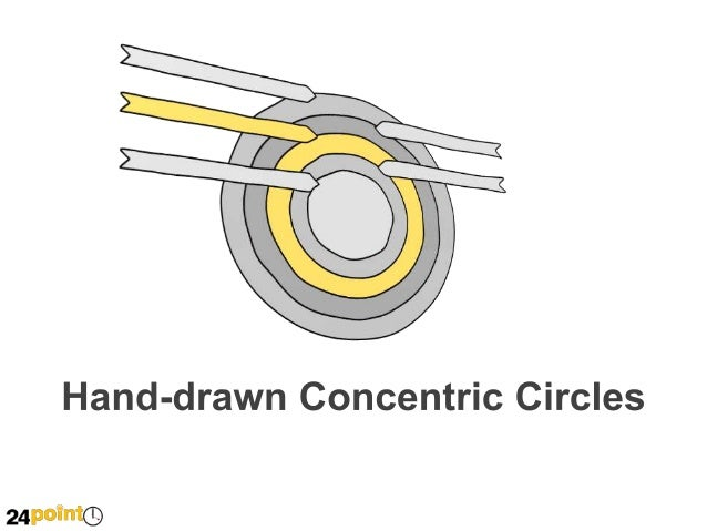 Hand-drawn Concentric Circles  Insert text Insert text