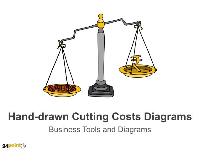 Hand-drawn Cutting Costs Diagrams - PowerPoint Illustrations
