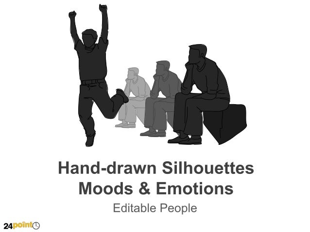Hand-drawn Silhouettes Moods & Emotions  Title Insert text Insert text Insert text