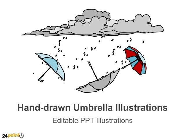 Hand-drawn Umbrella Illustrations  Accident  Health  Natural Disaster  Insert text  Insert text  Insert text