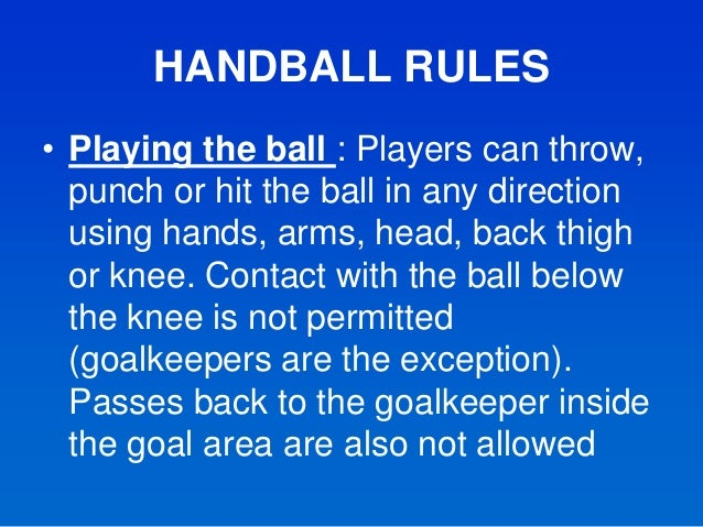 rules for handball