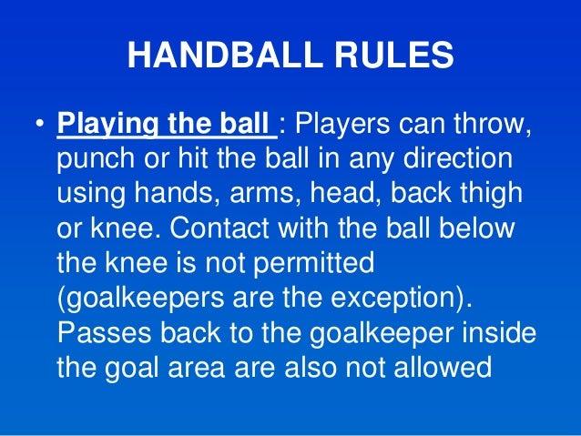 rules to handball