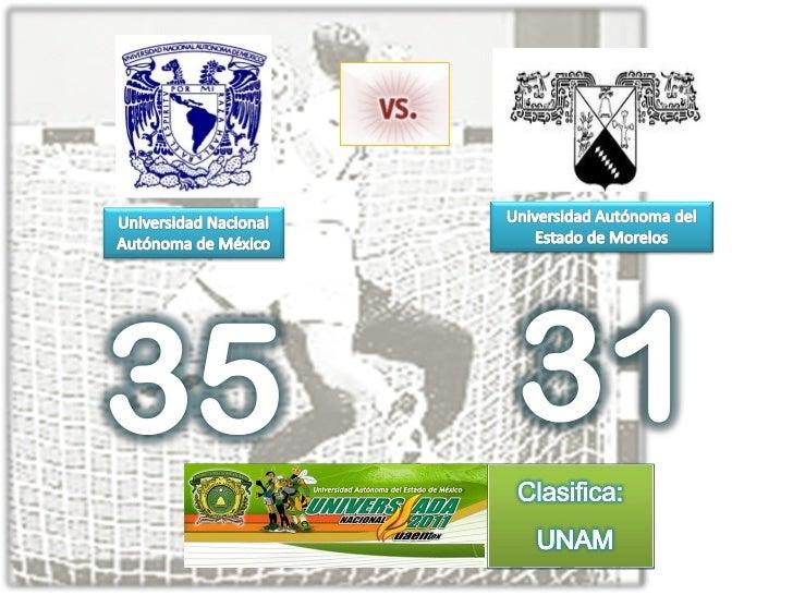 Handball   unam vs uaem