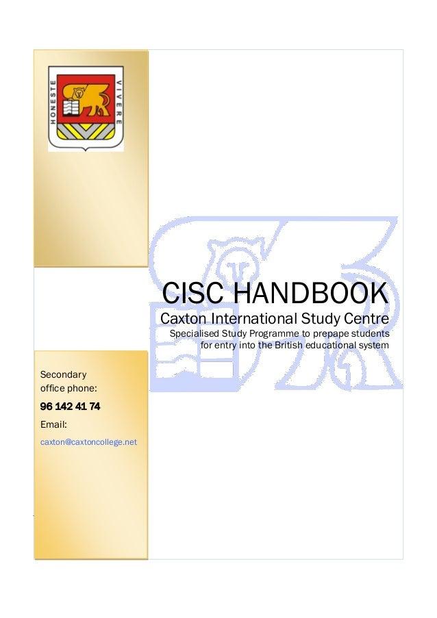Handbook CISC - 2013.14