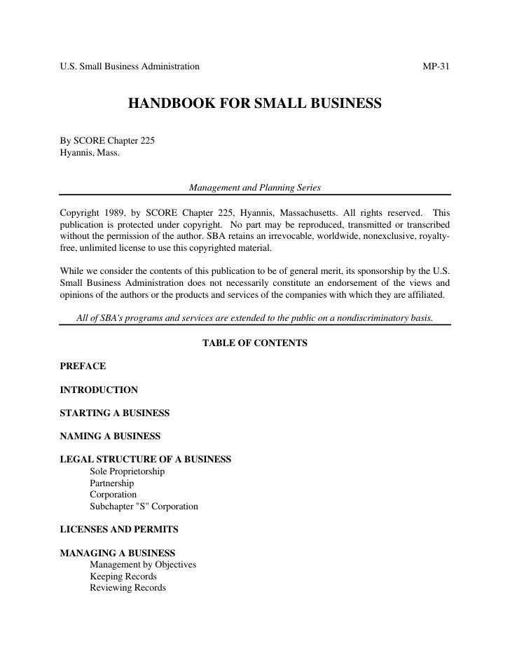 Handbook+For+Small+Business
