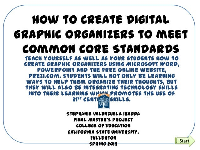 How to Create DigitalGraphic Organizers to meetCommon Core StandardsTeach yourself as well as your students how tocreate g...