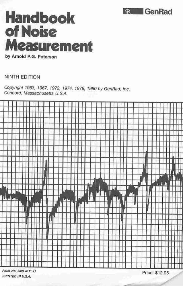 Handbook noise measurement
