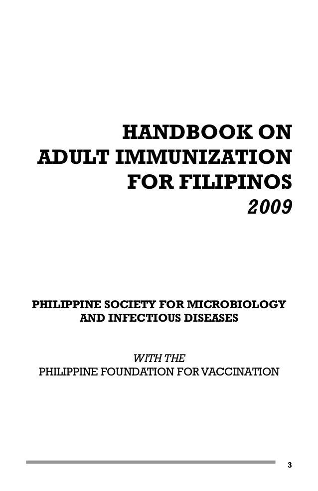Handbook on adult_immunization_2009_(contents)