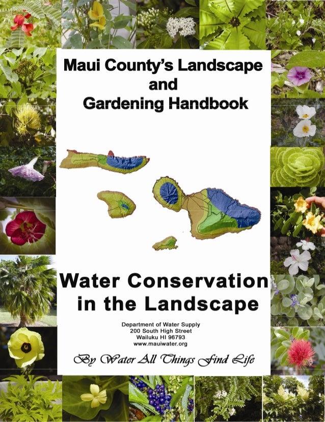 Maui County Landscape and Gardening Handbook