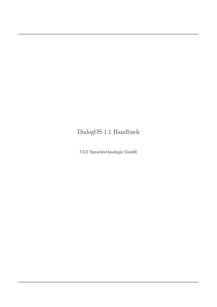 DialogOS 1.1 Handbuch   CLT Sprachtechnologie GmbH