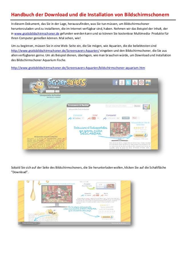 Handbuch der Download und die Installation von Bildschirmschonern In diesem Dokument, das Sie in der Lage, herauszufinden,...