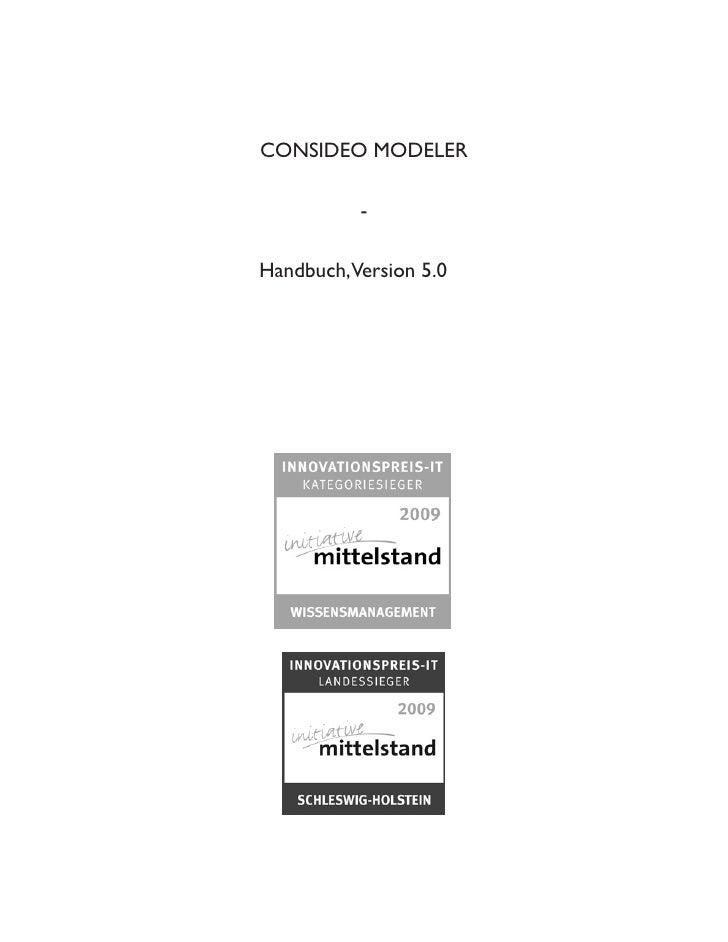 CONSIDEO MODELER            -  Handbuch,Version 5.0