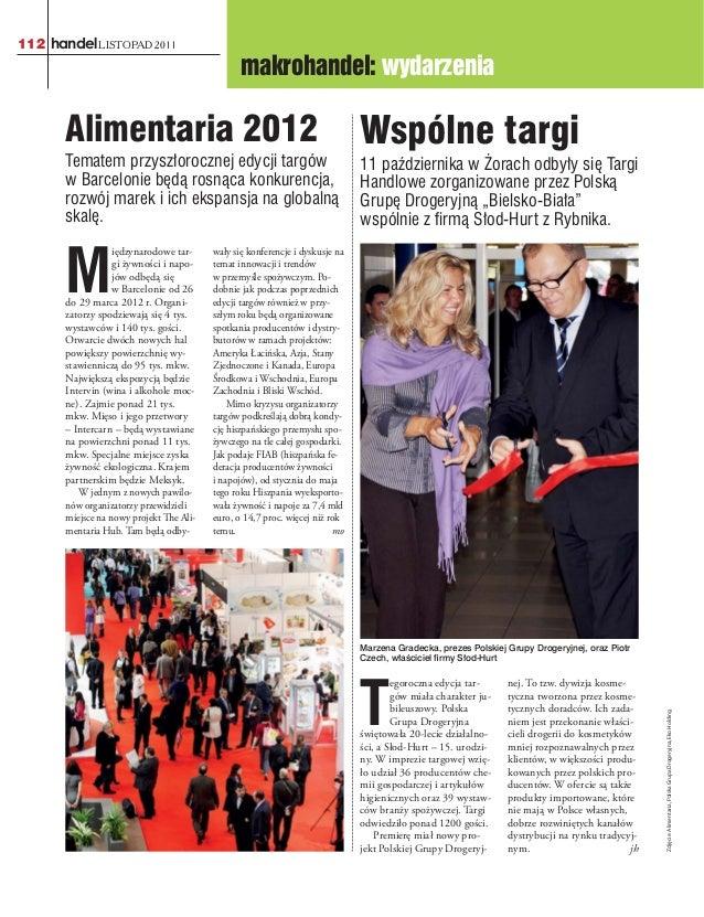 112 handel LISTOPAD 2011                                                 makrohandel: wydarzenia       Alimentaria 2012   ...