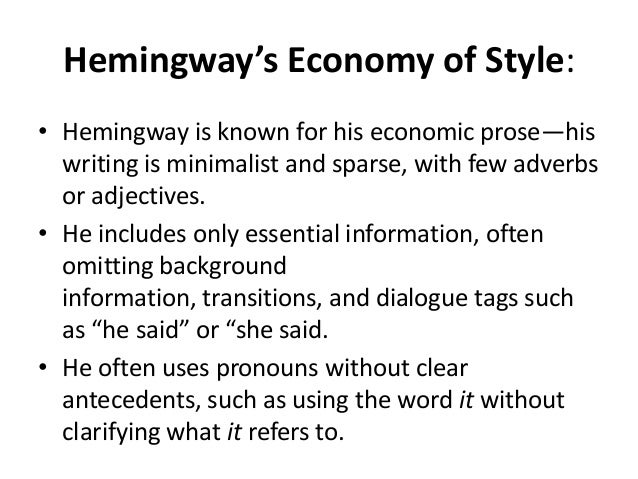 "hemingway iceberg theory essay Fiction analysis essay topic: ernest hemingway employed what he called ""the iceberg theory"" when he wrote ""hills like white elephants"" what is the iceberg."