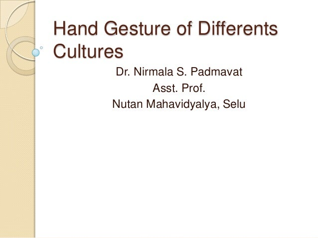 Hand gesture of differents cultures