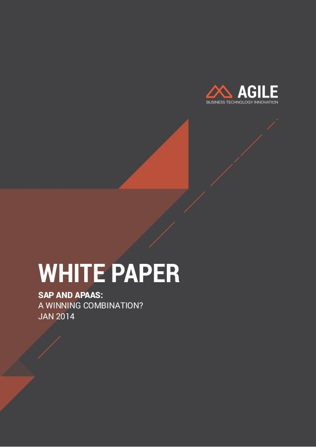 WHITE PAPER  SAP AND APAAS:  A WINNING COMBINATION?  JAN 2014