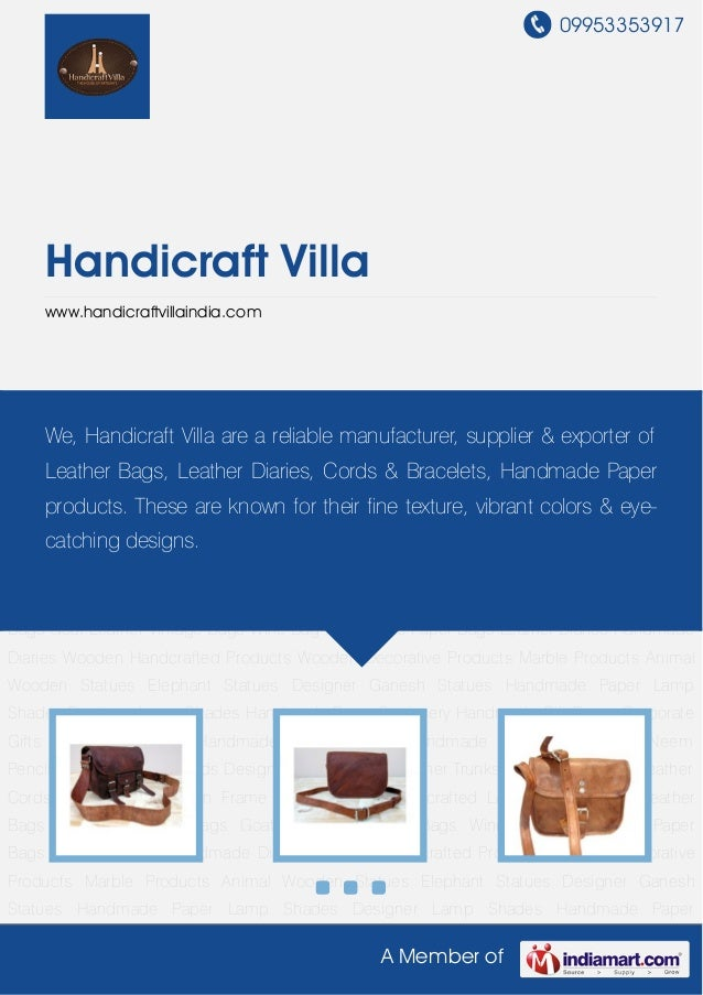 Trendy Leather Bags By Handicraft villa