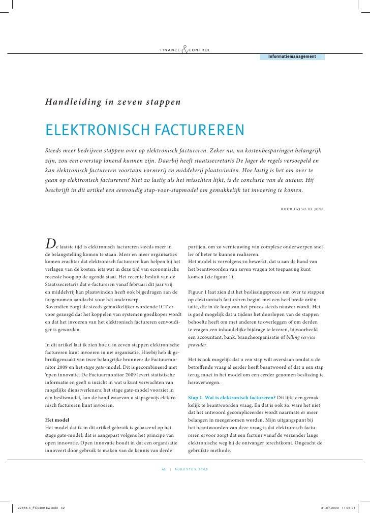 Elektronisch factureren, Handleiding in zeven stappen
