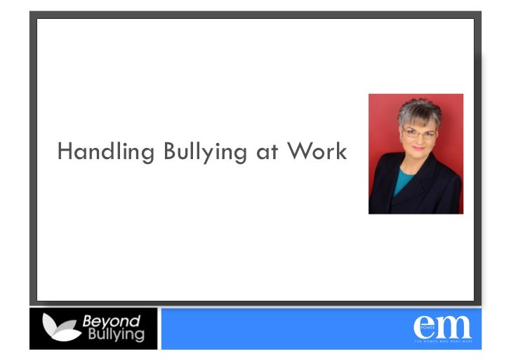 Handling Bullying at Work
